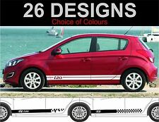 Hyundai i20 side stripes decals stickers both sides