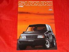 SUZUKI Vitara Cabrio Limousine Prospekt von 1989
