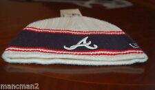 NEW ERA MENS  ONE SIZE ATLANTA BRAVES  BEANIE HAT COLOUR WHITE/BLACK/RED