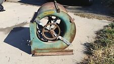 "Squirrel cage blower ~ Furnace Fan / Medium Size / Patina / About 18 1/2"" X 20"""
