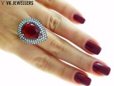 Antique Turkish Traditional Jewelry 925k Silver Handmade Ruby Ring Size 8 R3023