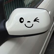 car stickers Pair wink smile face mirror rearview affixed funny decoration