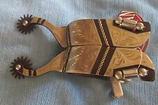 Fancy Showman Engraved Brown Spurs Cowboy Cowgirl
