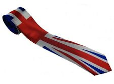 UNION JACK PRINTED NECK TIE- ADULT SIZE.