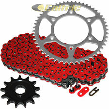 Red O-Ring Drive Chain & Sprocket Kit Fits HONDA CR125R 1987-2003