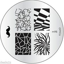 NEW IMAGE PLATE M98 Konad Stamping Nail Art Design Nails Art USA SELLER
