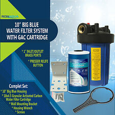 "10"" Big Blue Whole House System with 4.5x10"" Granular Activated Carbon Filter"