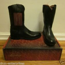NEW Lucchese Men's M1011.C2 Black Cherry Lone Star Calf Roper Boots 9 EE