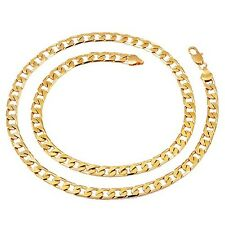 620*7mm Mens Heavy Yellow Gold Filled Curb Cuban Link Chain Necklace