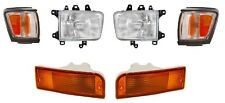 1992 - 1995 TOYOTA 4RUNNER HEADLIGHTS, CORNER, & SIGNAL LAMP COMBO (BLACK)