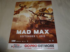 PROMO STORE DISPLAY SIGN PS4 XBOX ONE PC MAD MAX SEPTEMBER 1 2015 AVALANCHE WB