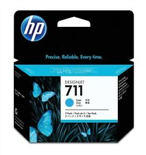 HP 711 (3 Pack) Cyan Ink Cartridge (29ml) for Designjet T120/T520 Large Format