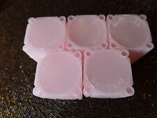 5 Pink Dollar Large/ Silver Coin Size Safe Plastic Square Tube Supplies