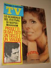 TV SORRISI CANZONI=1971/28=ORNELLA VANONI=TESSUTO=CANTANTE ROBERTINO MICHELE=