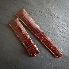"OMEGA RRP £440 Gen Crocodile Alligator ""31"" Swiss Watch Strap Band NOS Leather"
