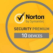 Norton Security Premium for 10 devices 1 year - product key code