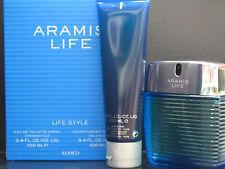 Aramis Life For Men 2 Pcs Set 3.4 oz Eau de Toilette Spray + 3.4 oz Shower Gel