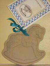 Brown Bag Cookie Art COOKIE MOLD 1984 Hill Design ROCKING HORSE W/Book