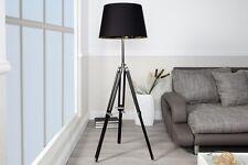 Designer Stehlampe Stehleuchte mit Lampenschirm in Schwarz - Chrom 91 bis 153 cm