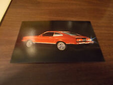 1974 Ford Mustang II Mach One 3-Door Hardtop Advertising Postcard