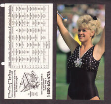 2 SAME 1989 ACC Atlantic Coast Conference Football Schedules w/ Baton Majorette