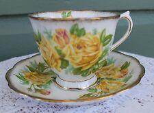 Vintage Estate Royal Albert Tea Rose Yellow Lots Gold Trim Cup Saucer Rd 839056