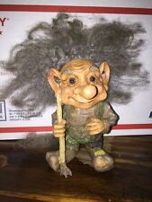 Vintage By Form Troll Gnome Norway Grey Hair Hand Made