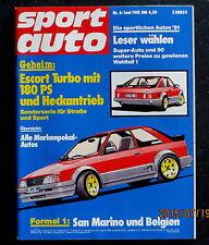 Sportauto 06/81 Geheim: Ford Escort Turbo mit 180 PS, F1: San Marino und Belgien