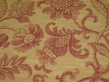 "Tapestry Fabric decorator upholstery red gold/tan floral 56"" wide by the yard"