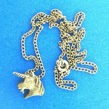 Horse Unicorn Pendant Necklace Chain Pewter 17.75x0.5""