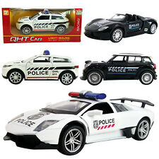 1PC 1:32 Lamborghini Mini Cooper Porsche Land Rover Police DieCast Model Car Toy