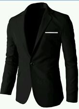 H2H Mens Single Breasted Slim Fit Blazer With One Button, US Md./Asia Lg.