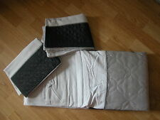 Next BLACK GREY SILVER QUILTED PANEL Bed set Duvet BedSet DOUBLE bedding & 2pc
