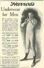 WW1 Underwear For Men Japanese Silk Anglo-indian Woodman Burbidge Harrods Ad