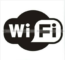 WIFI Fashion Computer Laptop Bar Cafe PVC Waterproof Sticker SM8-WALLS075