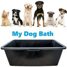 BLACK DEEP PLASTIC WATER DOG ANIMAL BATH TUB GROOMING CLEANING WASHING