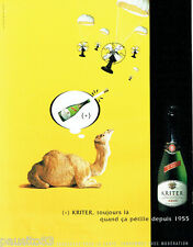 PUBLICITE ADVERTISING  026  2002  Kritter Brut vin mousseux