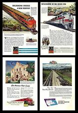 Railroads. Advertising from old Magazines (two sides). Union Pacific (L.#10)