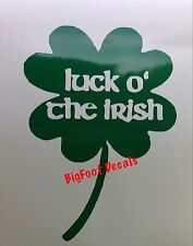 Irish Decal Luck O' The Irish Green Four Leaf Clover St Patty's Day Sticker