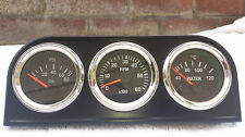 52mm Tacho 0-6000 rpm Oil and Pressure Gauges Chrome Bezel Mounting Holder