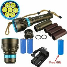 Underwater 100m 20000Lm 7 XM-L2 LED Diving Flashlight Torch+26650+Charger Set