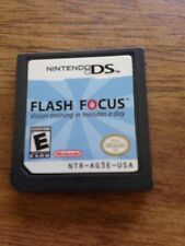Flash Focus: Vision Training in Minutes a Day  (Nintendo DS, 2007) Game Only