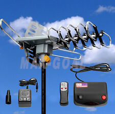 150MILES OUTDOOR TV ANTENNA MOTORIZED AMPLIFIED HDTV HIGH GAIN 36dB UHF VHF NEW!