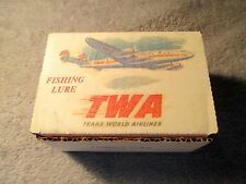 Promotional Trans World Airline Fishing Lure. Original Box. Airline Advertising.