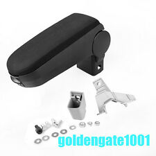 Black Cloth Center Console Armrest Storage Box Fit VW Golf Jetta Mk4 2000-04 GG