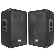 Seismic Audio PAIR AUDIO 12 Inch PA SPEAKERS Karaoke/Concert Speaker