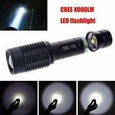 Hot Sale 4000LM Zoomable Cree XML T6 LED 5 Modes Police Flashlight Lamp Torch