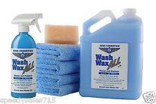Waterless Car Wash Wax Kit 144 oz. Aircraft Quality Wash Wax Car RV Boat New USA