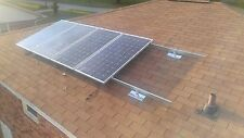 "Solar panel mounting system for shingle roof, for 10 full size up to 42"" x 77"""