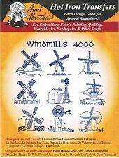 Windmills Aunt Martha's Hot Iron Embroidery Transfer #4000